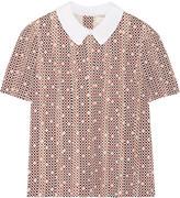 Tory Burch Galina printed cotton-blend top