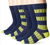 Fruit of the Loom Men's 6 Pack Rugby Striped Crew Socks