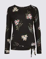Marks and Spencer Floral Print Long Sleeve Sweatshirt
