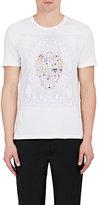 Alexander McQueen Men's Skull-Print Cotton T-Shirt-WHITE