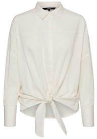 Vero Moda Helly Tie Front Shirt Birch - XS
