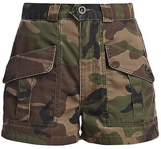 TRAVE Lucy High-Waist Camo Shorts