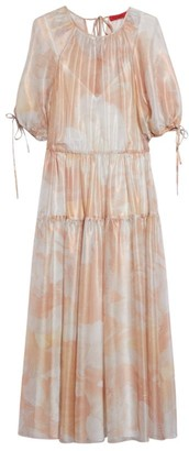 Max & Co. Silk Tiered Orca Midi Dress