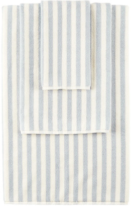 Tekla SSENSE Exclusive Off-White and Blue Stripe Towel Set