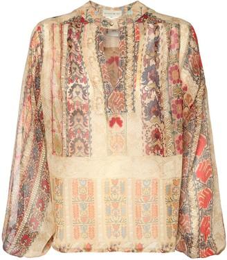 Etro Silk Georgette Printed Sheer Blouse