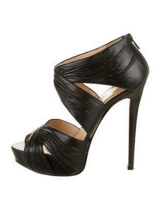 Christian Louboutin Leather Sandals Black