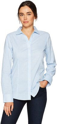Cutter & Buck Women's Epic Easy Care Long Sleeve Tattersall Collared Shirt