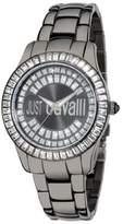 Just Cavalli Women's R7253169125 Ice Round Stainless Steel Swarovski Crystal Luminous Watch