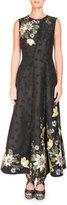 Erdem Yasmine Floral-Embroidered Midi Dress