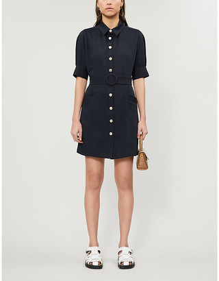 Sandro Joody woven mini dress