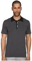 Billy Reid Stripe Polo Men's Short Sleeve Knit