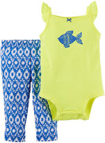 Carter's 2-pc. Sleeveless Bodysuit and Pants Set - Baby Girls newborn-24m