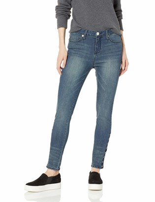 Seven7 Women's Mid Rise Signature Skiny with Hook & Eye