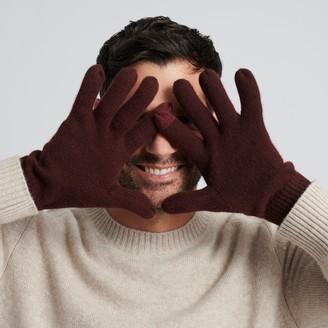 Naadam Signature Cashmere Gloves Plum