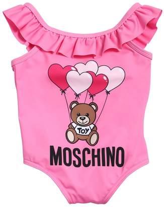 Moschino Logo Print Lycra One Piece Swimwear
