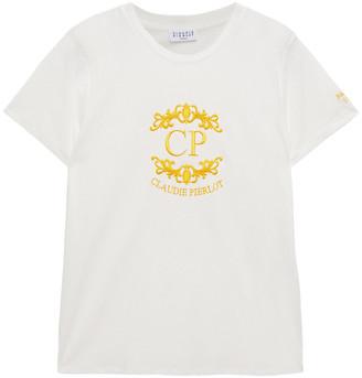 Claudie Pierlot Embroidered Cotton-jersey T-shirt