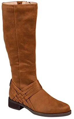 Journee Collection Meg Boot - Extra Wide Calf (Black) Women's Shoes
