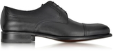 a. testoni A.Testoni Black Leather Derby Shoe
