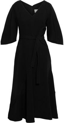 3.1 Phillip Lim Belted Pintucked Crepe Midi Dress