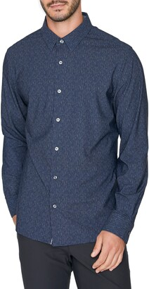 7 Diamonds Future Retro Slim Fit Stretch Button-Up Shirt