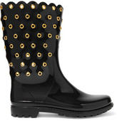 RED Valentino Embellished Rubber Rain Boots