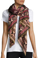Collection 18 Patterned Fringe Scarf
