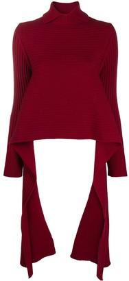 Rochas Long-Sleeved Knitted Polo Shirt