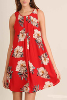 Umgee USA Red Floral Swing Dress