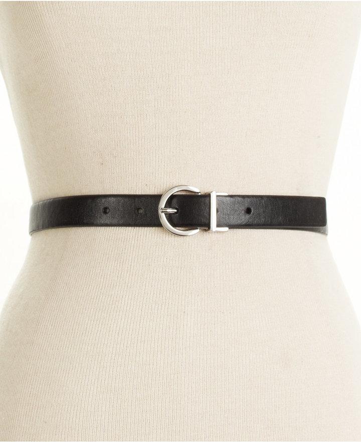 Style&Co. Plus Size Signature Reversible Skinny Belt
