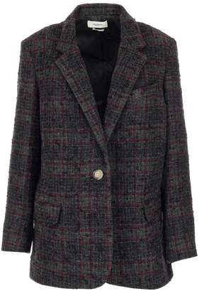 Etoile Isabel Marant Checked One-Buttoned Blazer