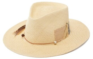 Nick Fouquet Sand Dollar Beach Straw Fedora - Mens - Beige