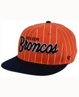 '47 Denver Broncos Pintstripe Script Captain Cap