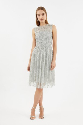 Coast Sleeveless Open Back Sequin Dress