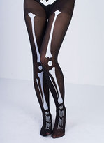 Missy Empire Daphne Black Skeleton Print Tights