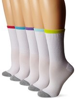 Reebok Women's Athletic Crew Sock 5-Pack