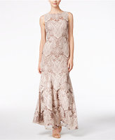 Calvin Klein Lace Sequined Mermaid Gown