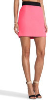 Milly Bonded Double Wool Mini Pencil Skirt