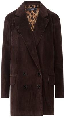 Dolce & Gabbana Velvet Corduroy Double-Breasted Jacket