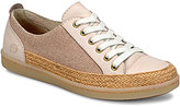 Børn Corfield Leather and Canvas Color Block Lace Up Sneakers