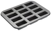 Kitchen Craft MasterClass 12-Hole Non-Stick Mini Loaf Cake Pan with Loose Bases, Grey, 35.5 x 27 cm
