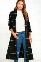 BB Dakota Braylee Black Plaid Coat
