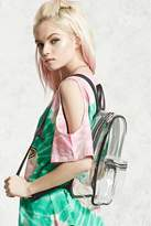Forever 21 FOREVER 21+ Contrast-Trim Clear Backpack