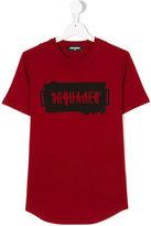 DSQUARED2 graphic logo print T-shirt - kids - Cotton - 14 yrs