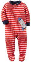 Carter's Toddler Boy Printed Fleece Footed Pajamas