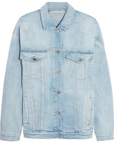 Stella McCartney Oversized Distressed Stretch-denim Jacket - Light denim