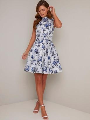 Chi Chi London Elowen Dress - Blue