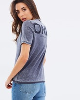 Only SS Burnout Logo Boxy Tee
