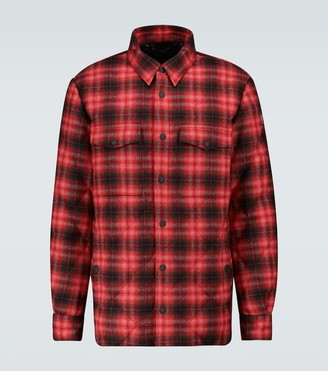 MONCLER GRENOBLE Briere checked jacket