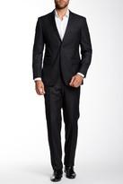 English Laundry Grey Sharkskin Notch Lapel Two Button Suit
