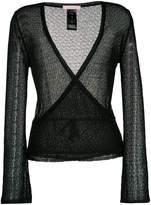 Kristina Ti open knit wrap cardigan